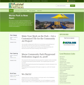 playground partners website redesign